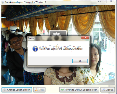 โปรแกรม Logon change for windows