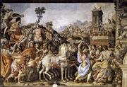 Francesco Salviati, Triunfo de Furio Camilo, Fresco en el Salone dei Cinquecento, Palazzo Vecchio, Florencia, Italia.