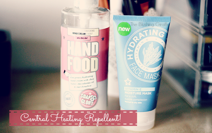 central heating skincare winter time protect soap and glory hand food superdrug vitamin e face mask