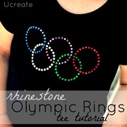 rhinestone olympic rings tutorial