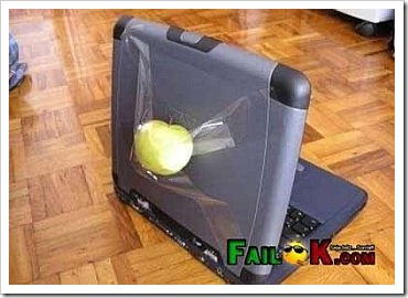 Funny Fail - Real Apple Laptop.