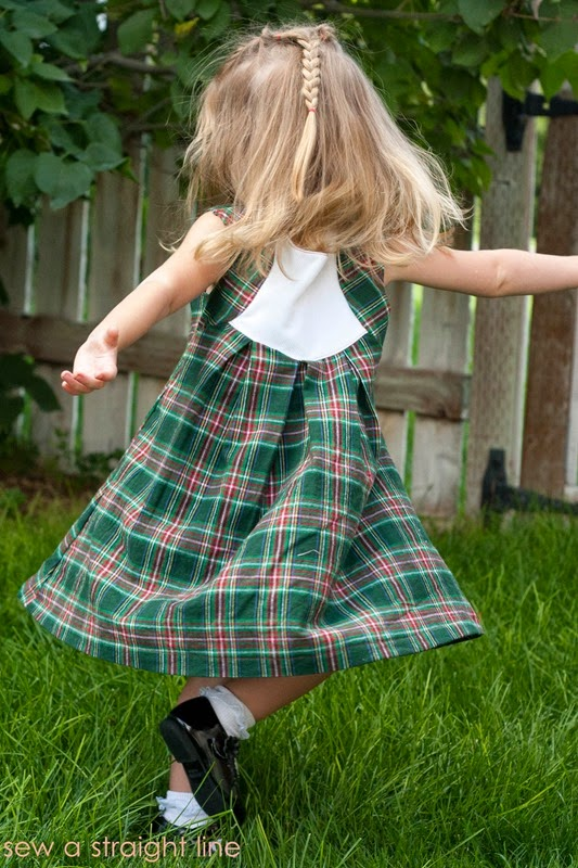 plaid fawn lilly dress Sew a Staight Line-2