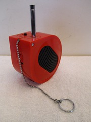 RF-93 Rolling Tone portable transistor radio, red
