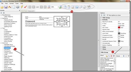 การสร้างใบงาน wordsearch จาก vocabulary worksheet factory