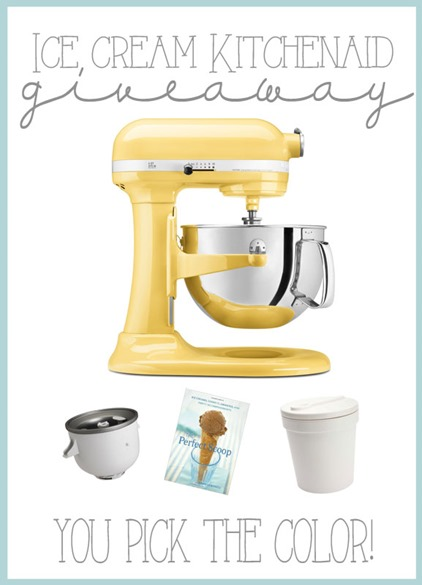 Ice Cream KitchenAid Giveaway