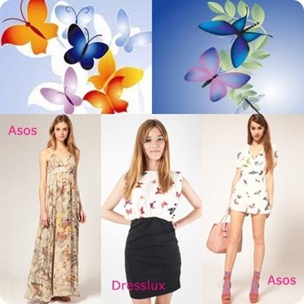 vestidos mariposas