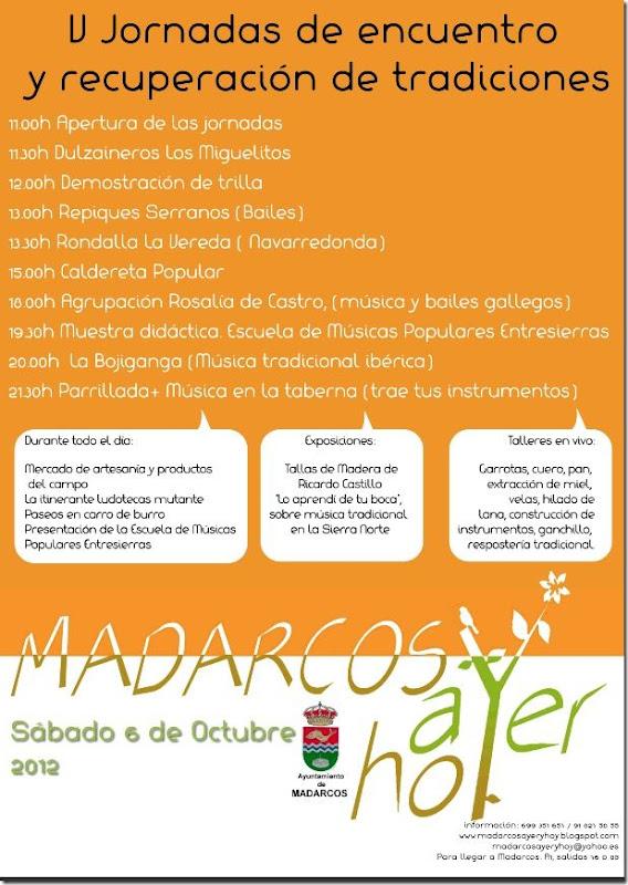 V Jornadas de encuentro y recuperación de Madarcos 2012