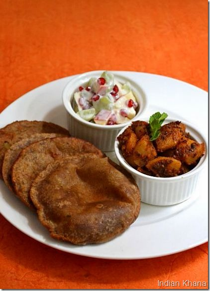 Upwas-singhara-aloo-poori-alu-sabzi-fasting-recipes