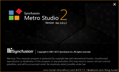 Syncfusion Metro Studio 2 Splash Screen