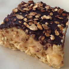 Granola Peanut Butter Icebox Bars with Oatmeal Cocoa Streusel