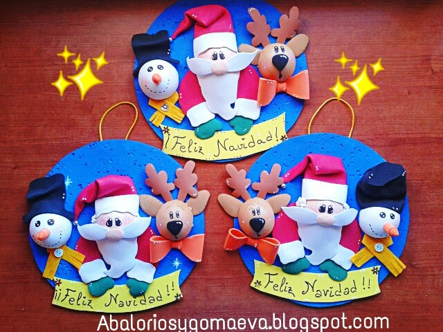 Abalorios y goma eva navidad navidad - Trabajos en goma eva navidad ...