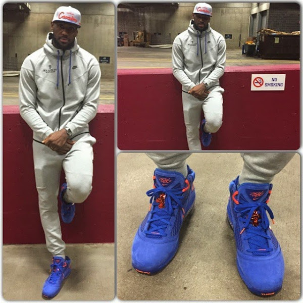 King James Celebrates Win in Throwback HWC LeBron 7 PEs