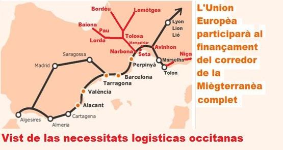 mapa per Occitània