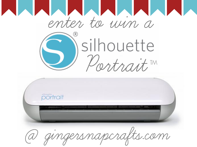 enter to win a Silhouette Portrait at GingerSnapCrafts.com