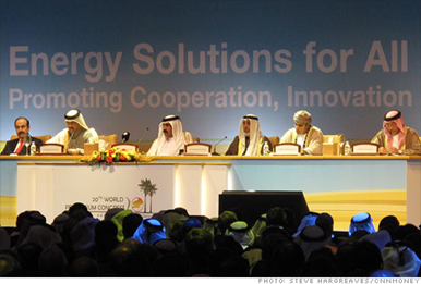 Representatives of Middle East oil producers attending the opening session of the World Petroleum Congress in Doha, Qatar. Steve Hargreaves