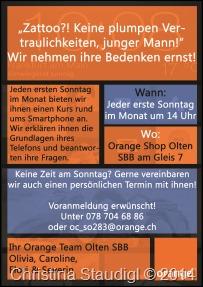 Orange Plakat
