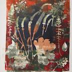 impressions vegetales - monotype50x 42 cm -100 €