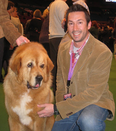 Greg With Tibetan Mastiff