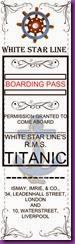 TITANIC BOOKMARK-001