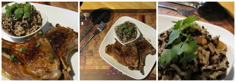 cumin black rice and lamb chops