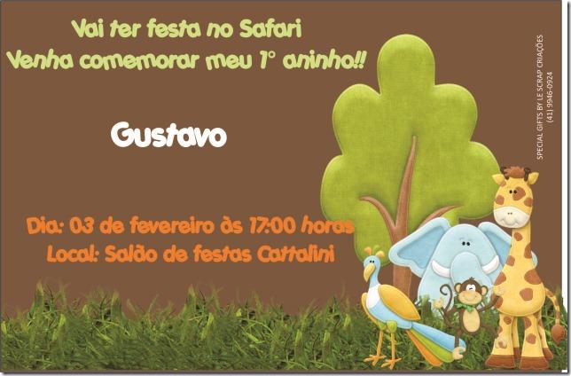 Convite Gustavo