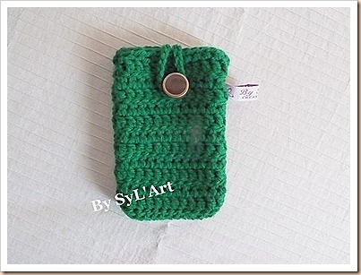 Pochette de Tlphone Crochet Vert By SyL'Art