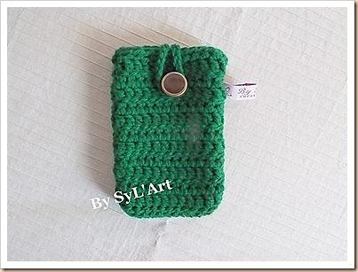 Pochette de Tlphone Crochet Vert By SyL'Art