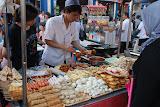 Urumqi - Marché de rue, brochettes