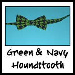green & navy houndstooth