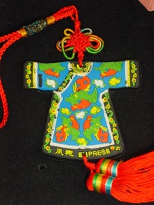Chinese empress knot Christmas ornament
