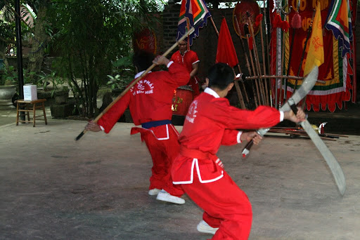 The speed and skill these students demonstrated of their ancient martial art was impressive.