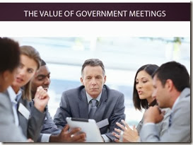 Value of Government Meetings