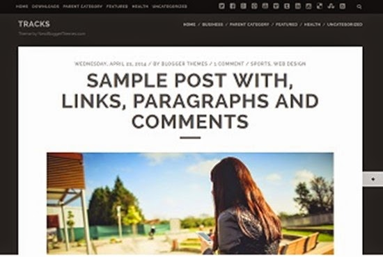 шаблон в минималистическом стиле blogger