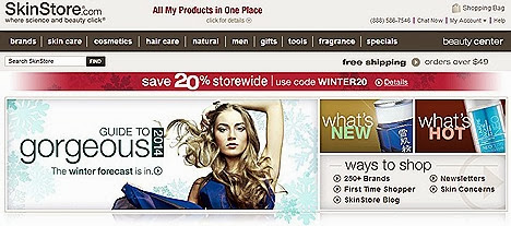 MasterCard Skin Store Online Shopping discounts promo  retails premium beauty, cosmetics skin care brands and incomparable selection product range luxury spas, fine stores doctors' offices leading online beauty retailers worldwide