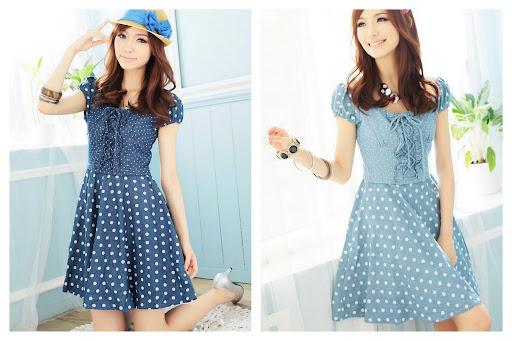 Fashion Trends Korean Polka Dot Dress