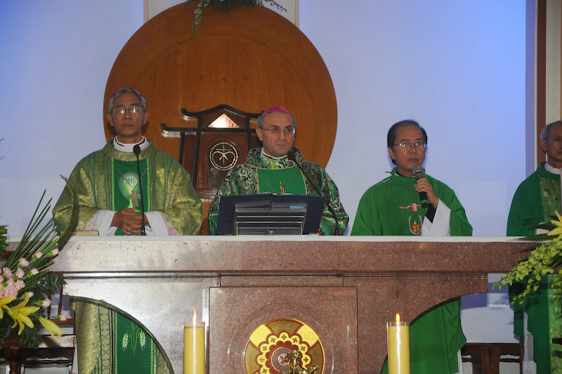Hình ảnh đón tiếp Đức TGM Leopoldo Girelli tại Châu Ổ, Kỳ Thọ, Vĩnh Phú