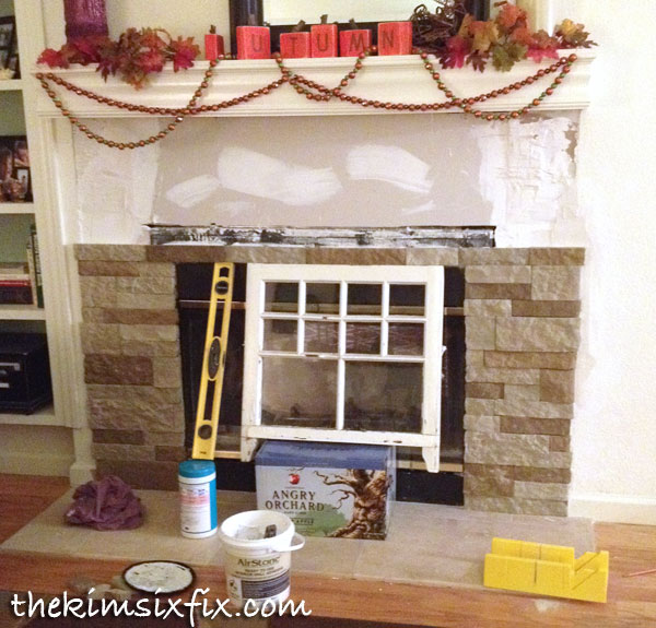 installing airstone fireplace