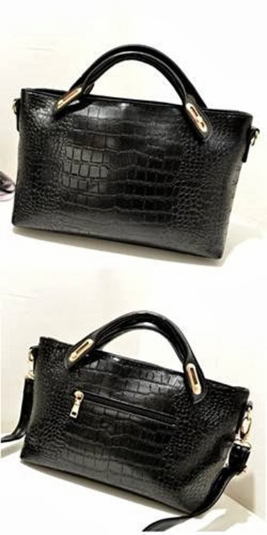 U8306 BLACK (199.000) - PU Leather, 31x23x12