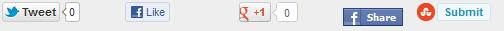 Add social sharing media buttons widget below post titles
