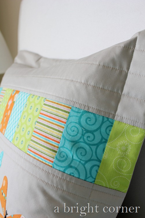butterfly pillow sham stitching
