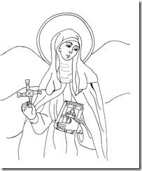 St. Brigid Coloring Page