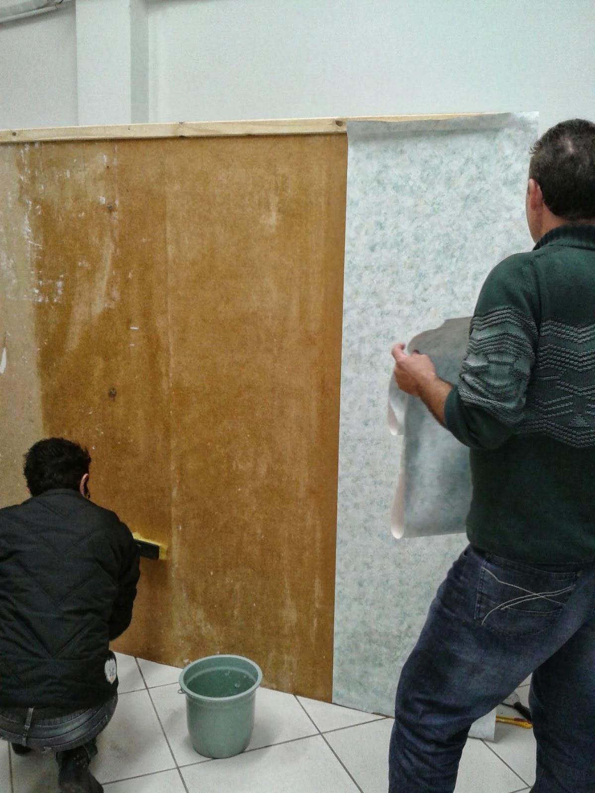 Curso de aplicacao de papel de parede