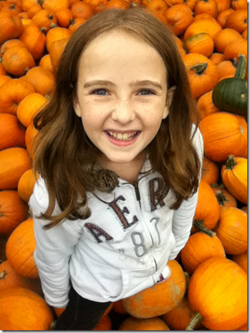 Cheyenne in a pumpkin patch