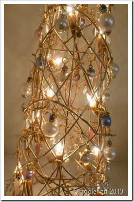 Bejewelled Christmas Tree. Dunelm illuminated Christmas tree
