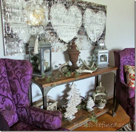 Rustic Holiday Decor in the Living Room