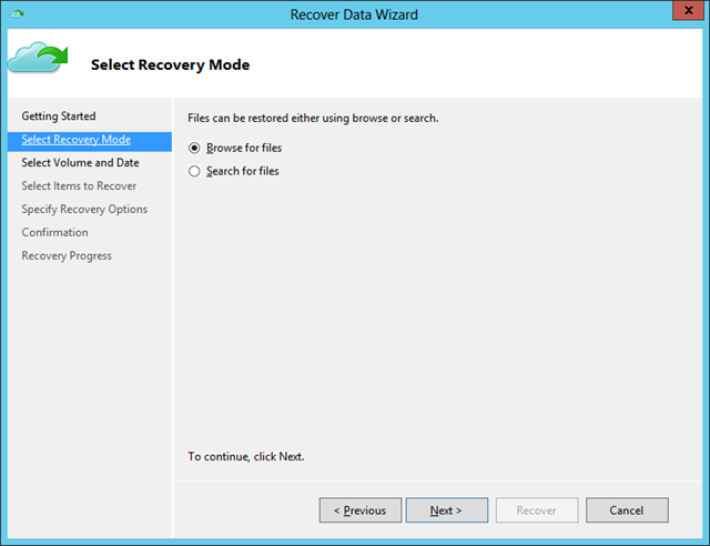 Recover Data Wiz - Recovery Mode