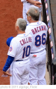 'Terry Collins and Wally Backman During National Anthem' photo (c) 2011, slgckgc - license: https://creativecommons.org/licenses/by/2.0/