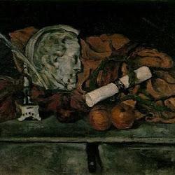 Paul Cezanne (1873): Accesorios de Cezanne; Bodegón con medallón de Philippe Solari. Museo de Orsay. Vanguardias Históricas/Realismo