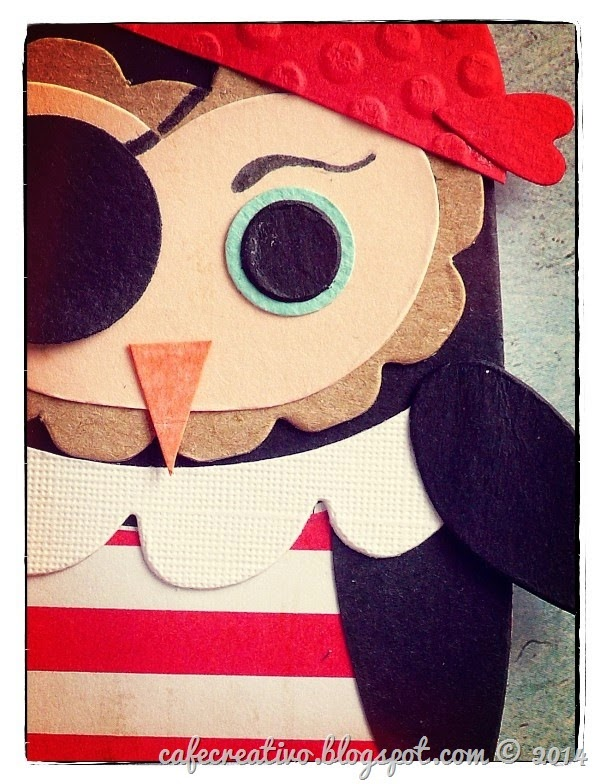 cafe creativo - Anna Draicchio - sizzix big shot - card OWL pirate