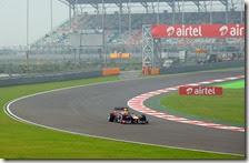 Vettel nelle prove libere del gran premio dell'India 2013